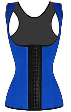 Blue Waist Cincher Vest